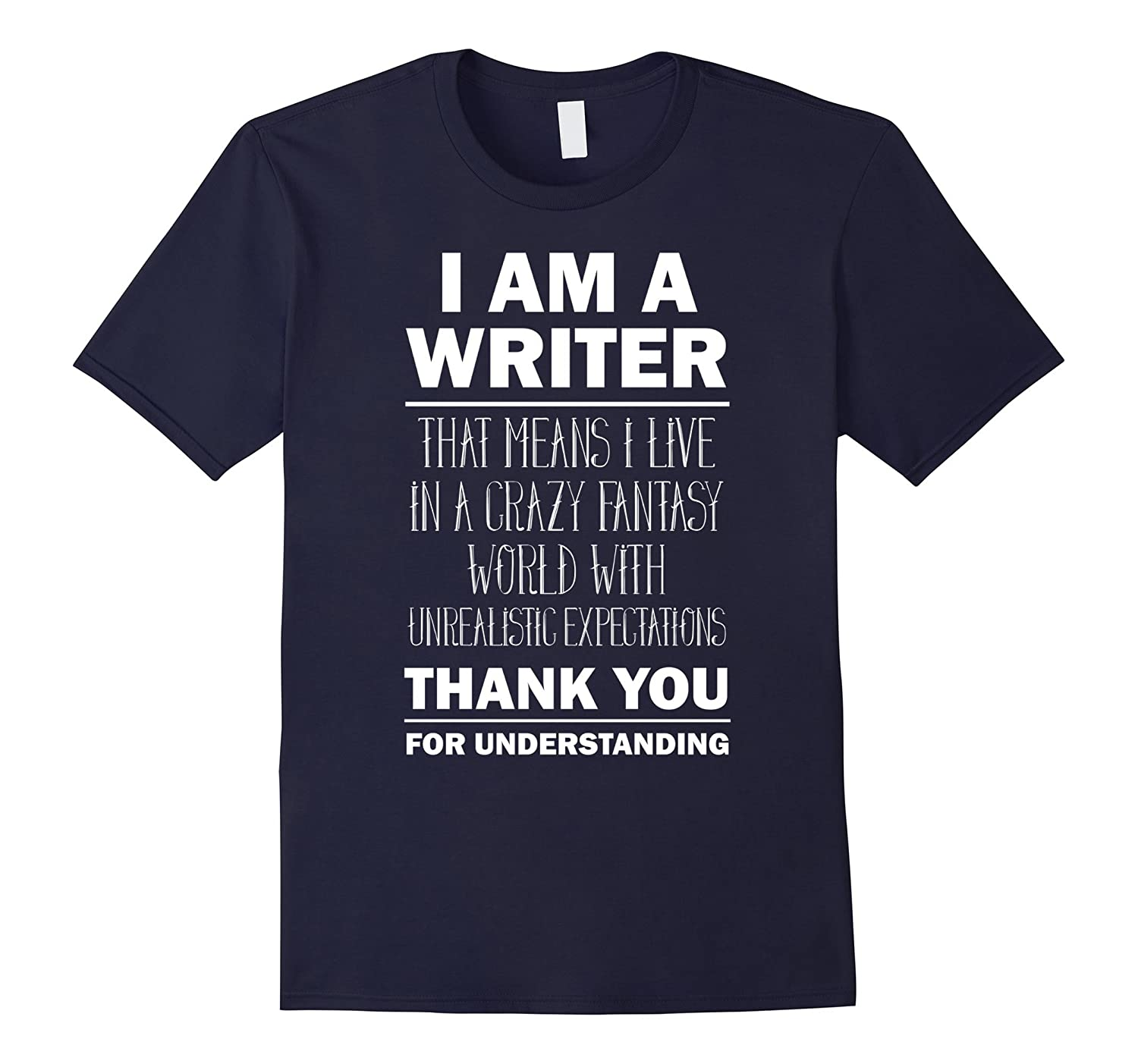 I Am a Writer - Funny Author T-Shirt Gift Tee-BN