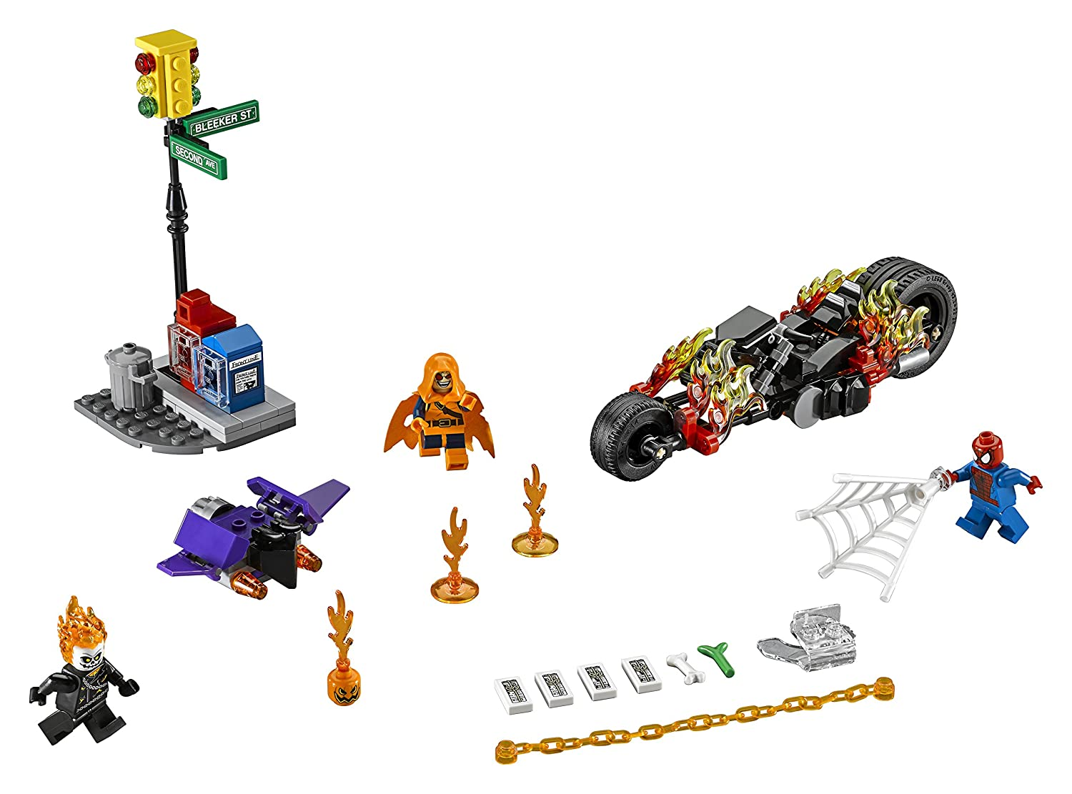 Lego Super Heroes 76058 Spider Man Ghost Rider Team Up Building Kit Luggage Tag Spiderman Kotak 217 Piece Beauty