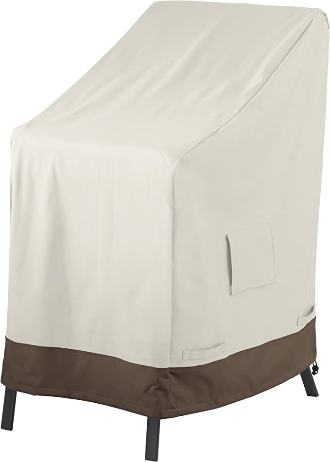 AmazonBasics Outdoor Stackable-Chair Patio Furniture Cover - High-quality Material