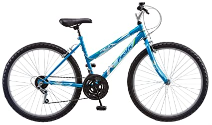 Amazon Com Pacific Women S Stratus Mountain Bike Blue 26 Inch