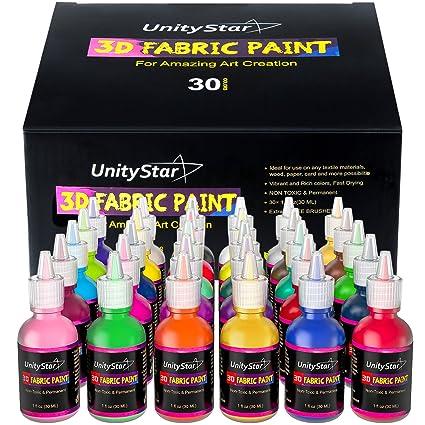 3d pintura para tela, permanente rotuladores de 30 colores ...