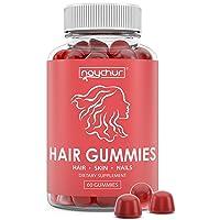 Hair Growth Vitamins Biotin Gummies - Hair Skin And Nails Vitamins For Faster Hair...