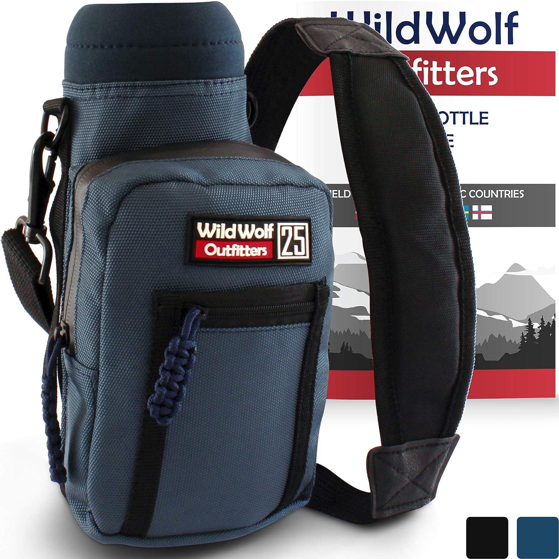 最適な材料 Wild – Wolf Outfitters – # 1 – Best Navyボトルホルダーの25オンスのボトル – # Carry Your、保護、断熱フラスコwithこのMilitary Grade Carrier w/ 2ポケットと調節可能なパッド入り肩ストラップ。 B073H2HP8T, キッズルームデコ:6ffe74cd --- a0267596.xsph.ru