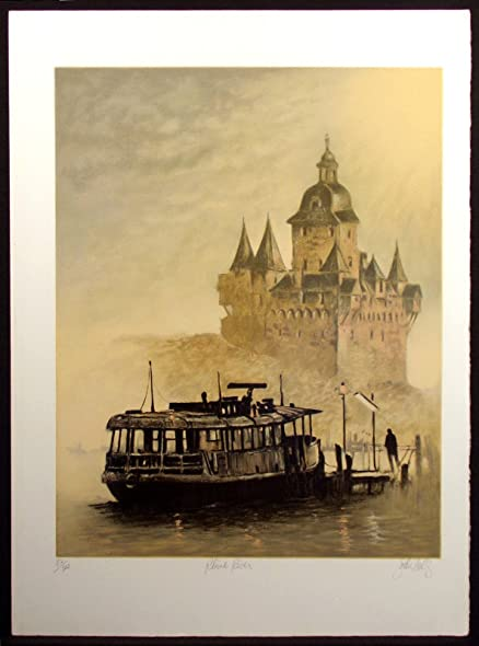 Amazon com: Rhine River: John Kelly: Fine Art