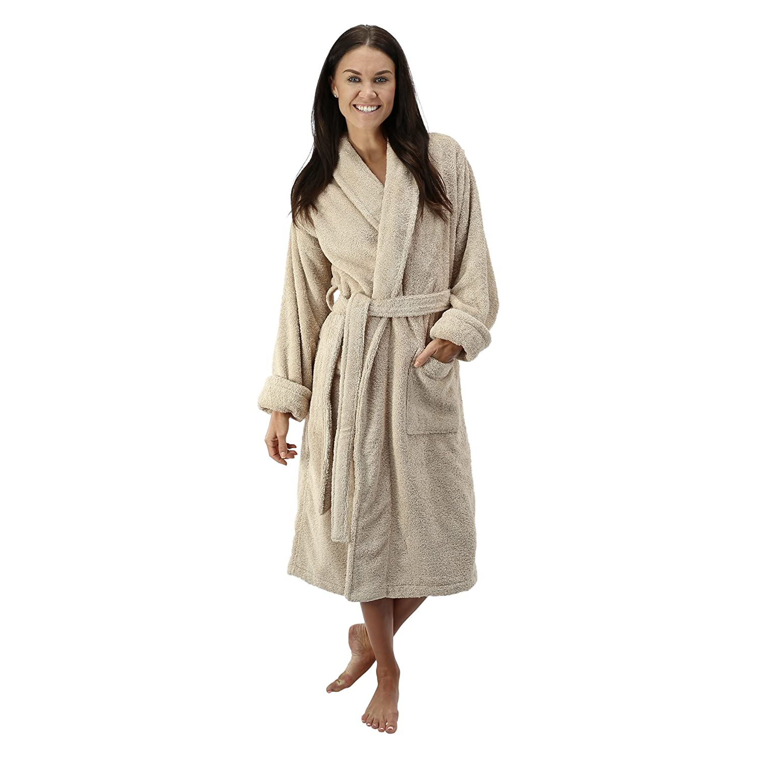 8495b05ef4 Comfy Robes Women s Deluxe 20 oz. Turkish Terry Bathrobe at Amazon Women s  Clothing store