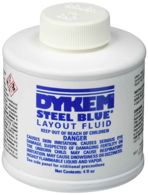 Amazon.com: Dykem 80300 Steel Blue Layout Fluid, Brush-in-Cap (4oz):  Industrial & Scientific