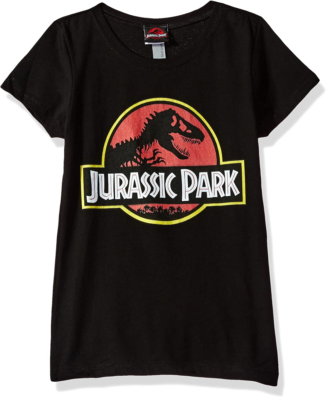 Jurassic Park Retro T Rex Logo Girls Graphic T Shirt