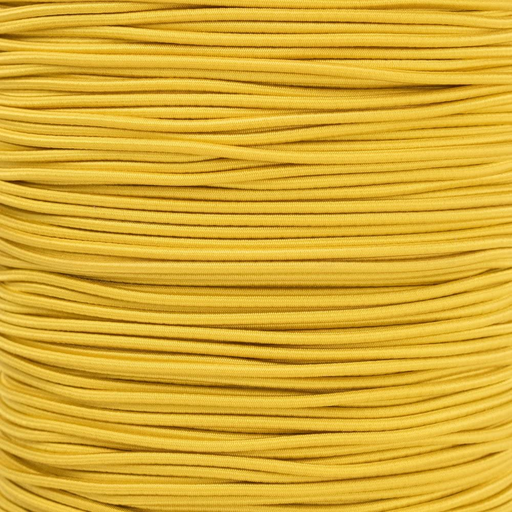 """1//2 inch Crafting Stretch String 10 25 50 /& 100 Foot Lengths Made in USA 3//16 5//8 5//16 1//16 3//8 1//4 PARACORD PLANET Elastic Bungee Nylon Shock Cord 2.5mm 1//32 1//8/"""""""