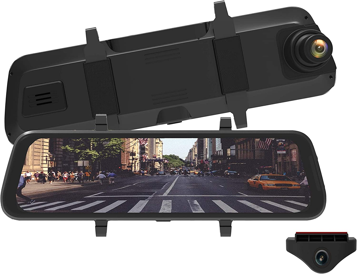 Mygekogear - Infiniview Lite, Touch Screen Rearview Mirror, Dash Cam, Back Up Camera, Sony Starvis Night Vision, 170 Wide Angle