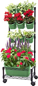 Watex Mobile Green Wall (Single Frame, Spring Bouquet), BPA Free Planters
