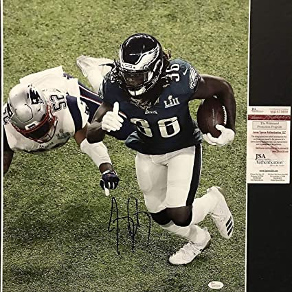 Image Unavailable. Image not available for. Color  Autographed Signed Jay  Ajayi Philadelphia Eagles Super Bowl LII 52 Champions 16x20 Football Photo  JSA c5aa33783