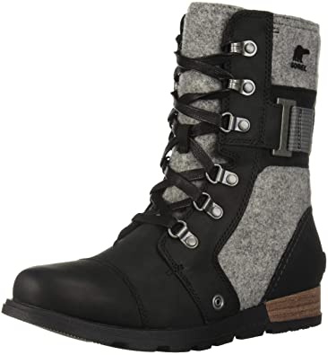 dadccfb611d7 SOREL Women s Major Carly Combat Boot Black