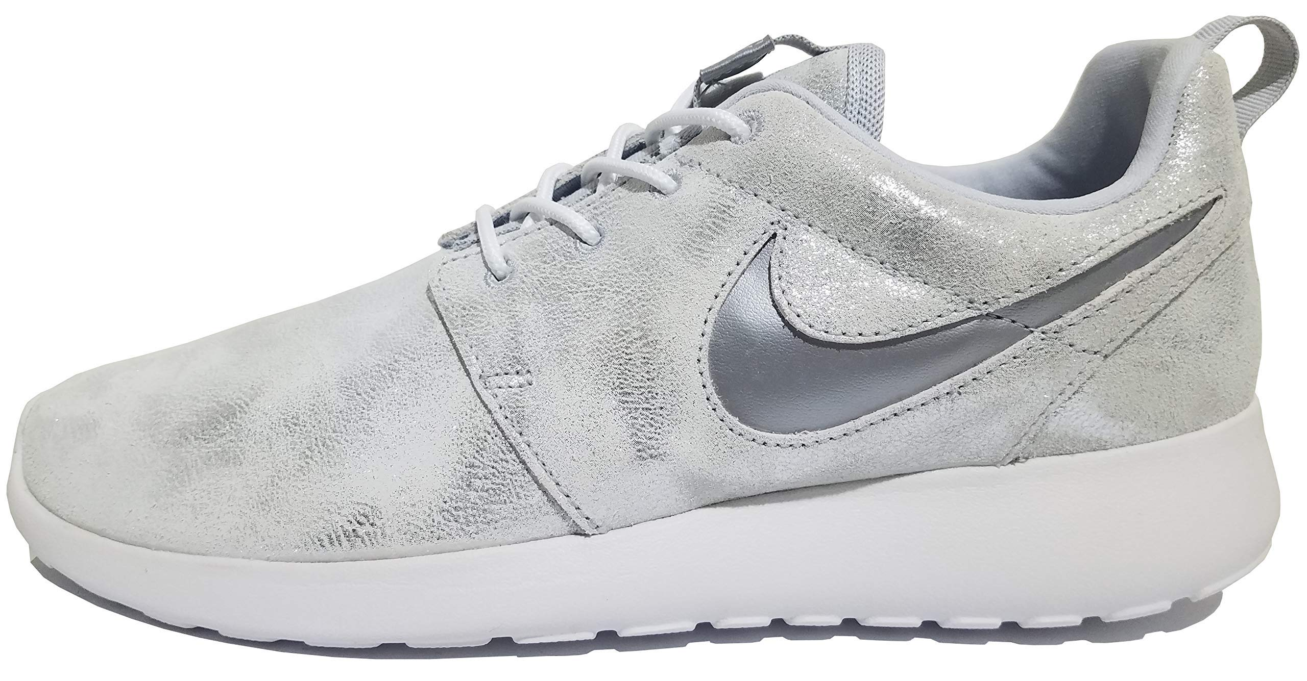 Details about Nike Roshe Running Shoe iD Premium Leather Brown White Size 6.5