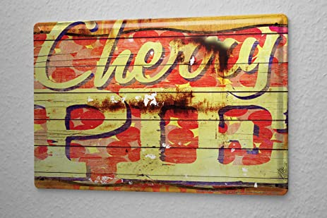 Amazon.com: M.A. Allen Retro Tin Sign U.S. Deco cherry pie apple ...
