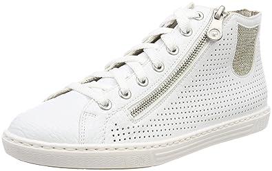 besondere Auswahl an Genieße den niedrigsten Preis Details für Rieker Damen L0925 Hohe Sneaker