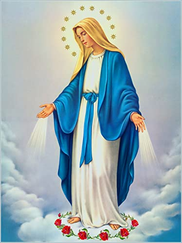 Our Lady Immaculate Conception of Mary POSTER 12x18 Virgin Mary print image Blessed Mother picture Holy Mary painting Catholic posters prints