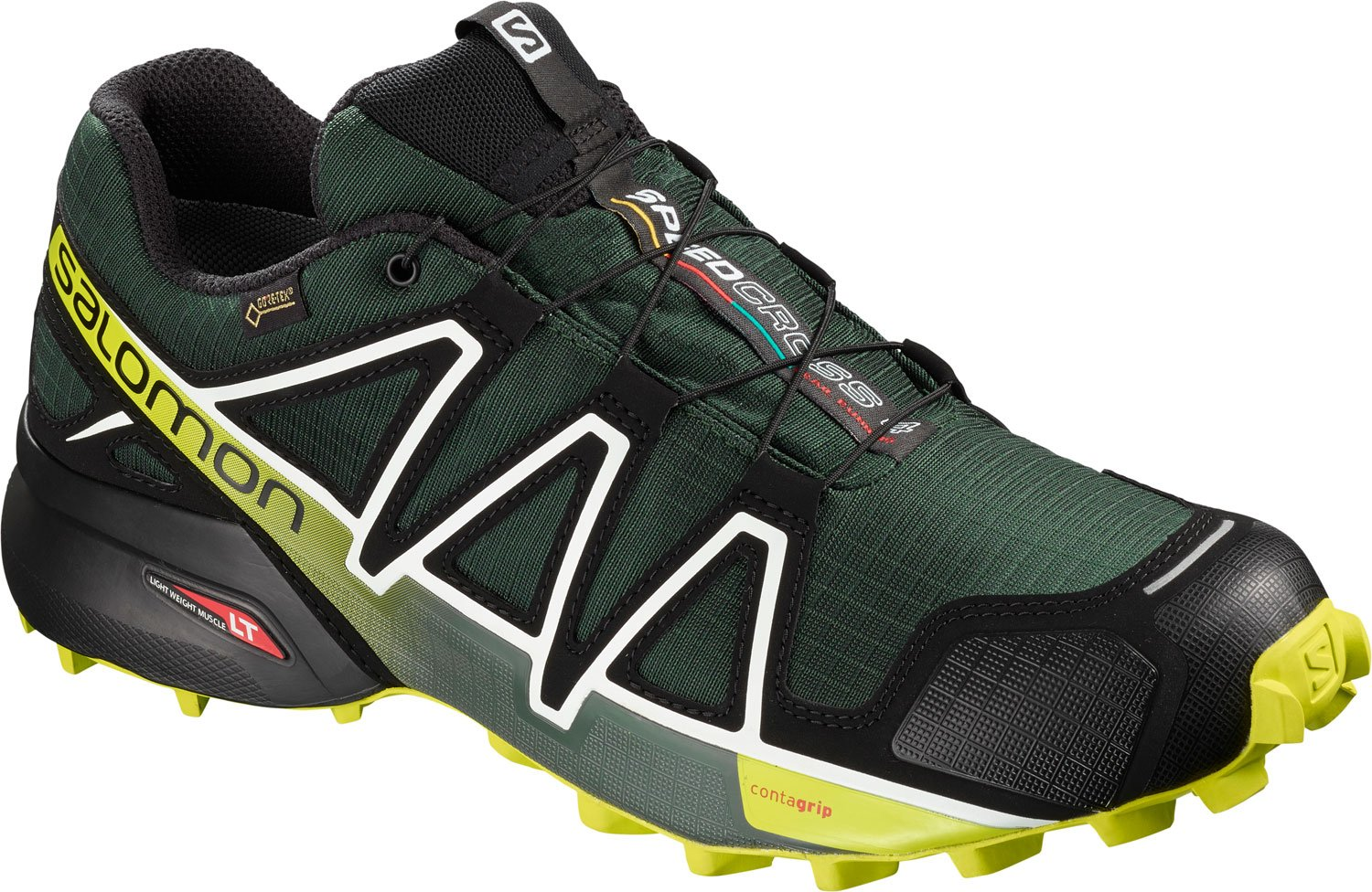 [サロモン] トレイルランニングシューズ SPEEDCROSS 4 GTX メンズ B07BRY4HYC 12 UK Green (Darkest Spruce/Black/Acid Lime Darkest Spruce/Black/Acid Lime)
