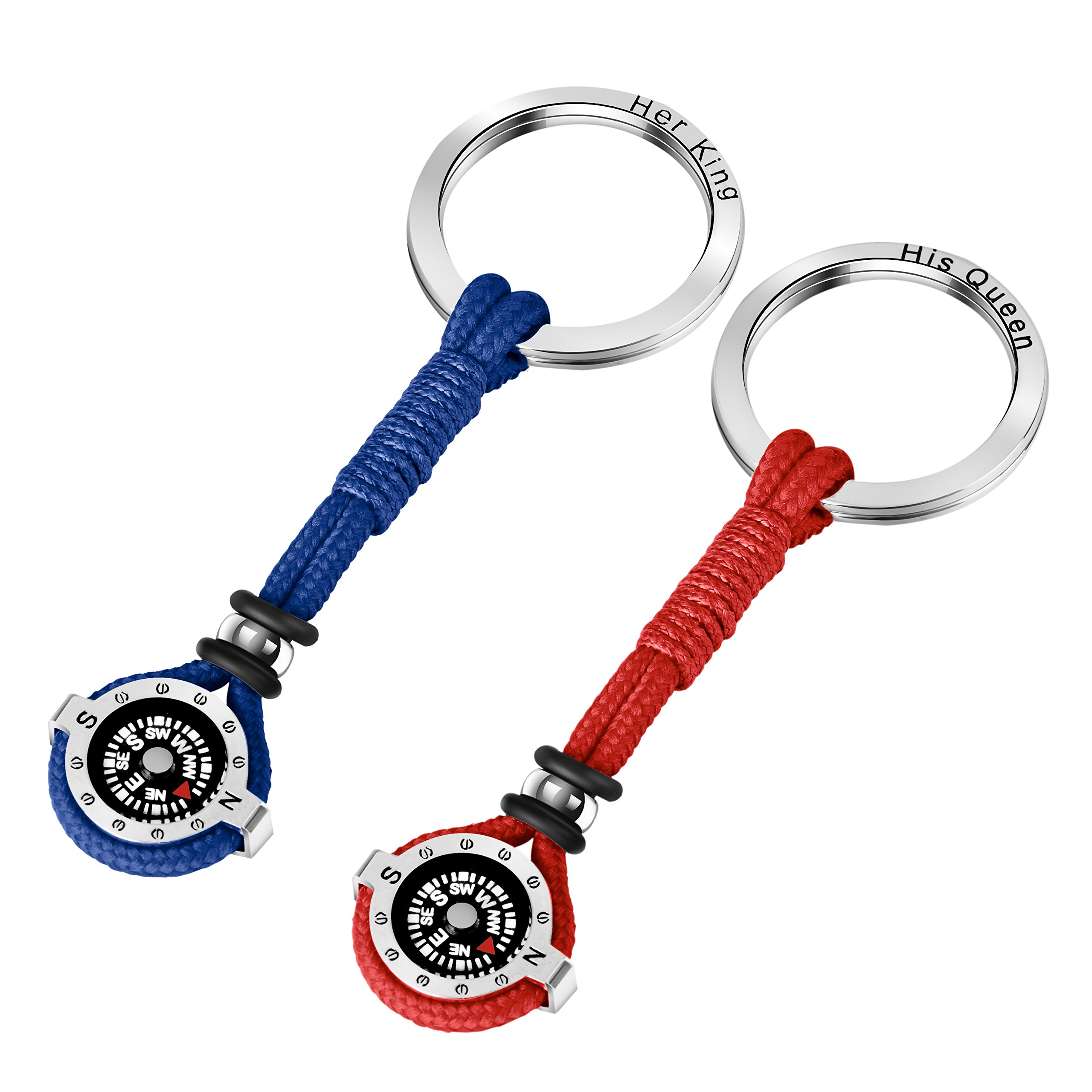 Novelty Compass Keychain for Outdoor Enthusiast, Stylish & Practical, Quality Compass for Hiking, Camping, Luxurious Packaging, Outdoor Gift for outdoorsman, Gift for Hikers, Campers, for Backpackers