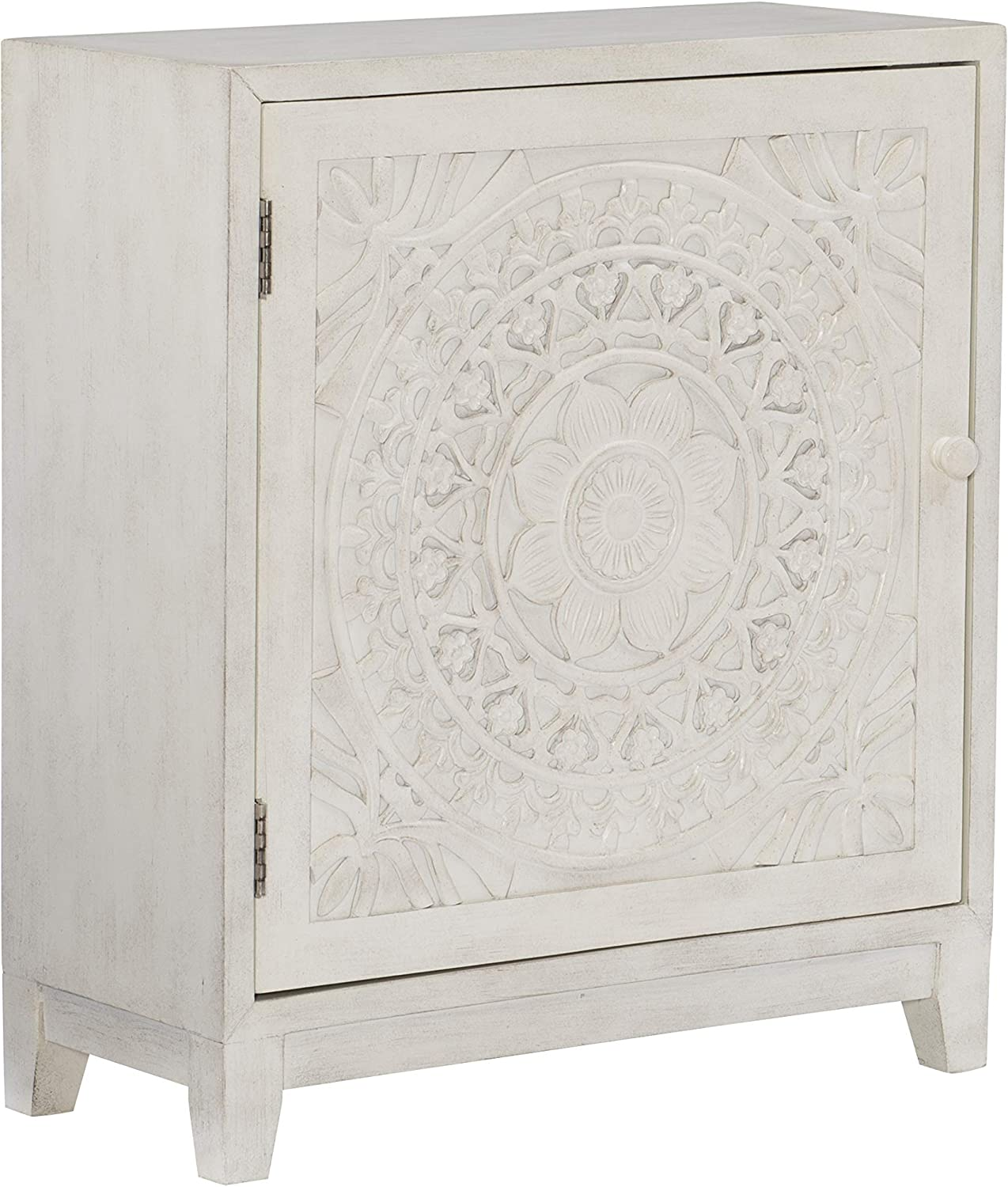 Powell Furniture Grace, Antique White Cabinet,