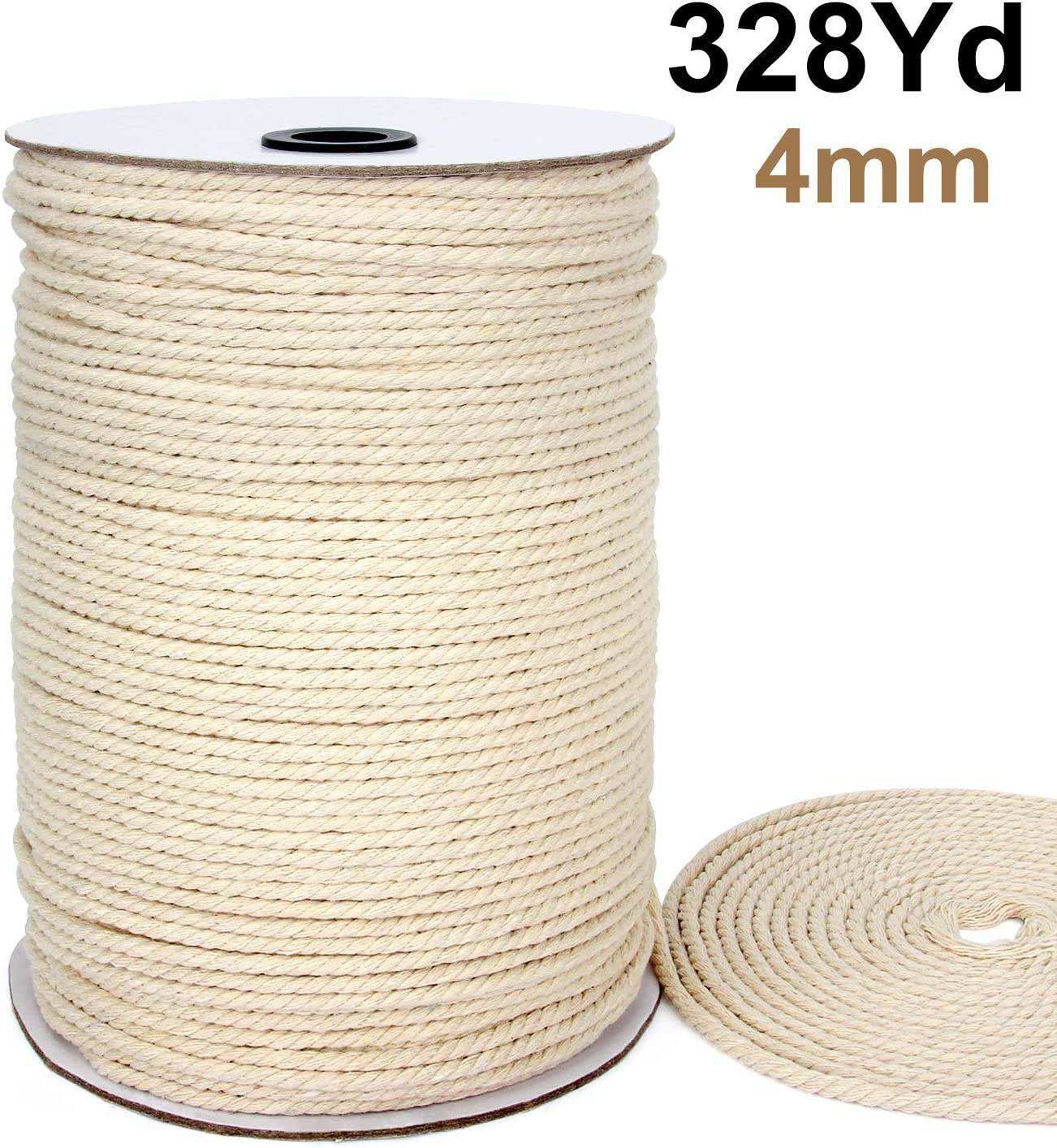 Natural Cotton Cord 4mm Macrame Cord 260 Meters Macrame Cord Macrame Rope
