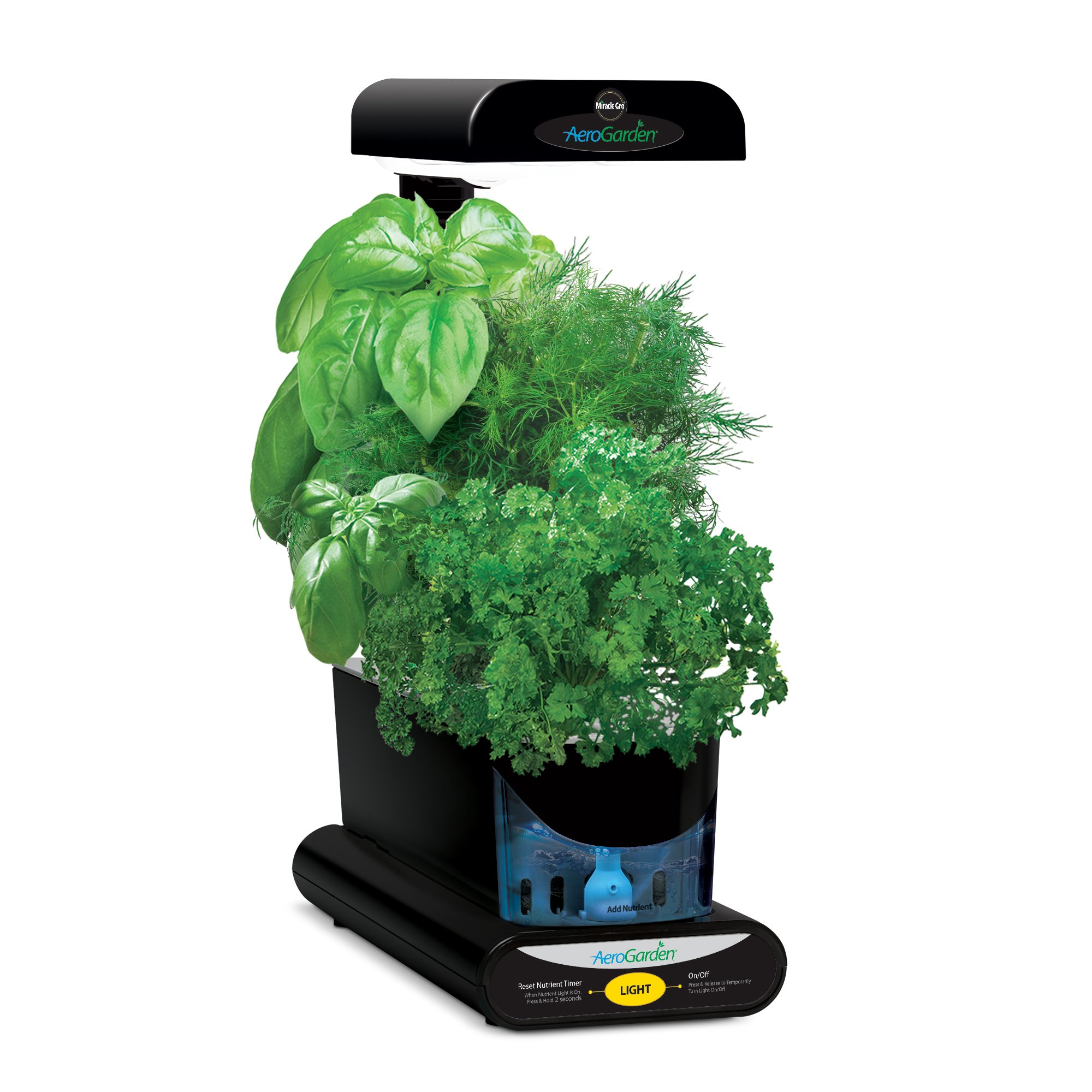 AeroGarden Sprout with Gourmet Herb Seed Pod Kit, Black by AeroGarden