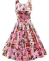 LUOUSE Sommer Damen Ohne Arm Kleid Dress Vintage kleid Junger abendkleid