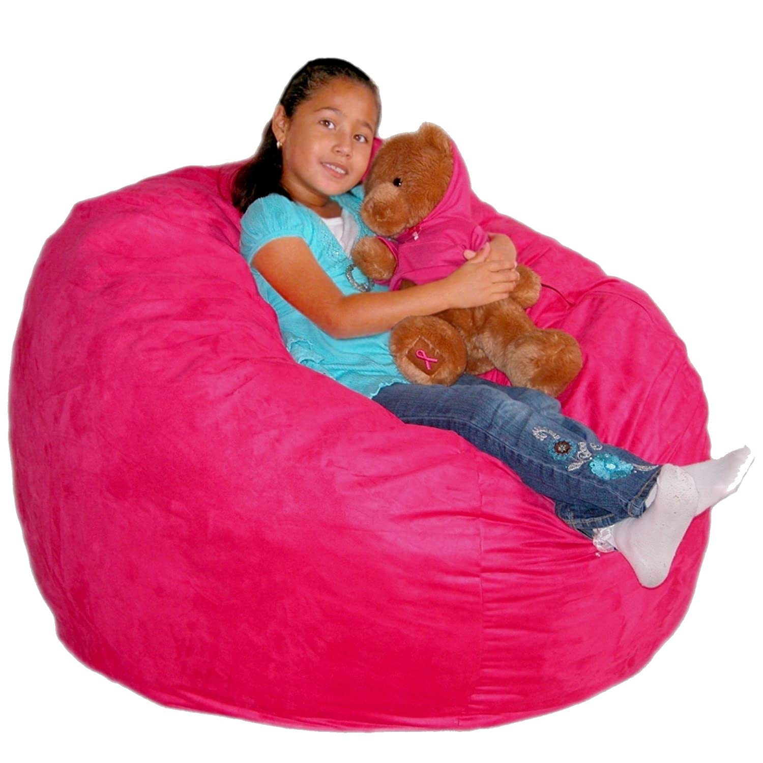 Amazon Cozy Sack 3 Feet Bean Bag Chair Medium Hot Pink Kitchen Dining