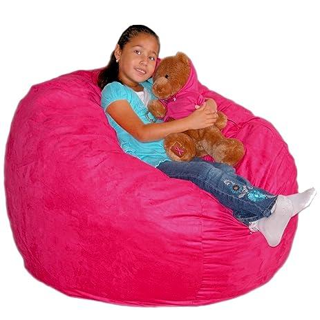 Cozy Sack 3 Feet Bean Bag Chair Medium Hot Pink