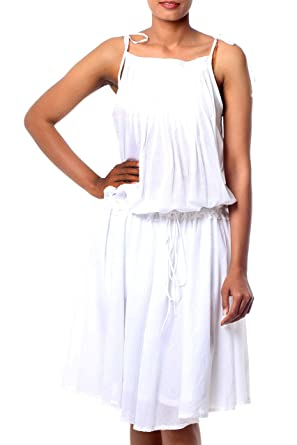 f2af81074e7a Amazon.com  NOVICA White 100% Cotton Sundress