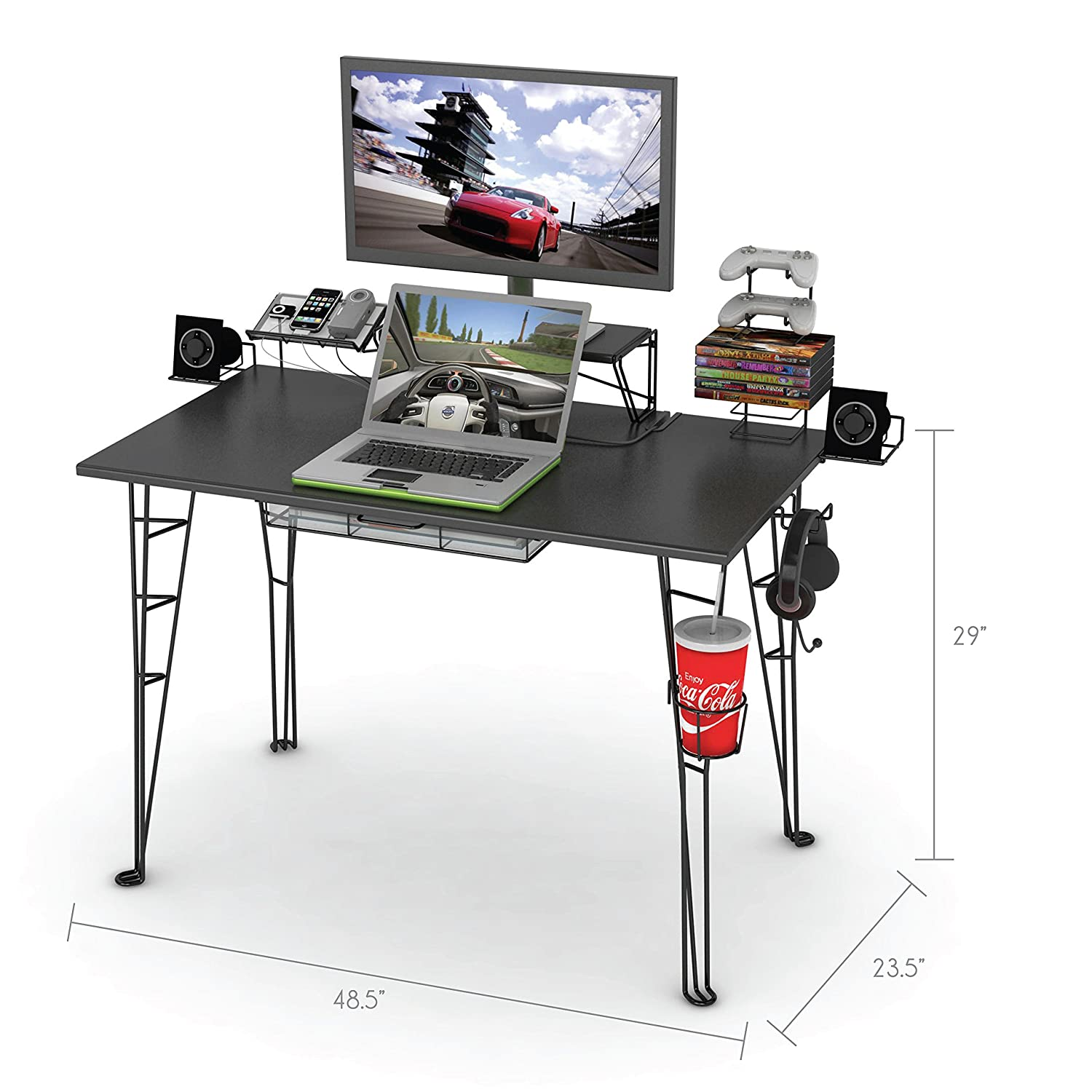 desk for evodesk gaming desks monitor gamers arms computer