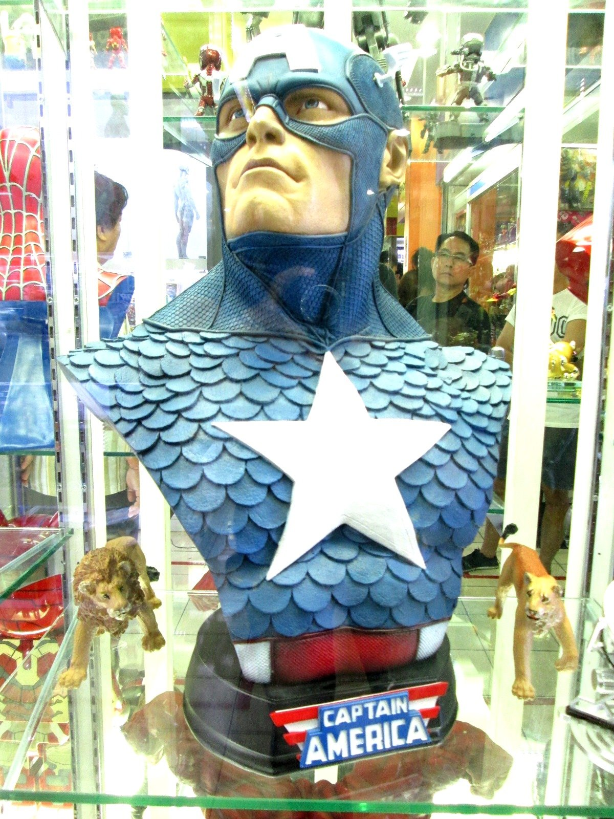 Captian America Bust Replica 1:1 Custom Painted By Goodwill Shop by Goodwill Shop