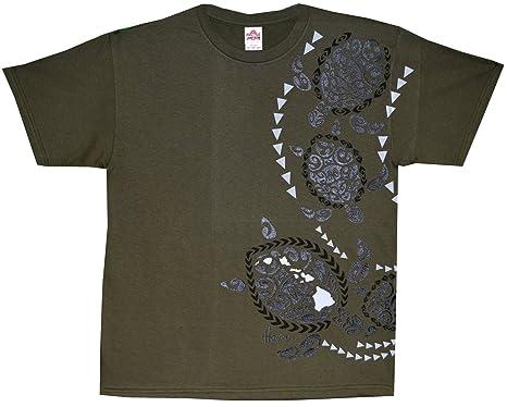 3bcc2b34 RJC Men's Tribal Sea Turtle Hawaiian Tshirt - Maui Imprint, Military Green,  ...