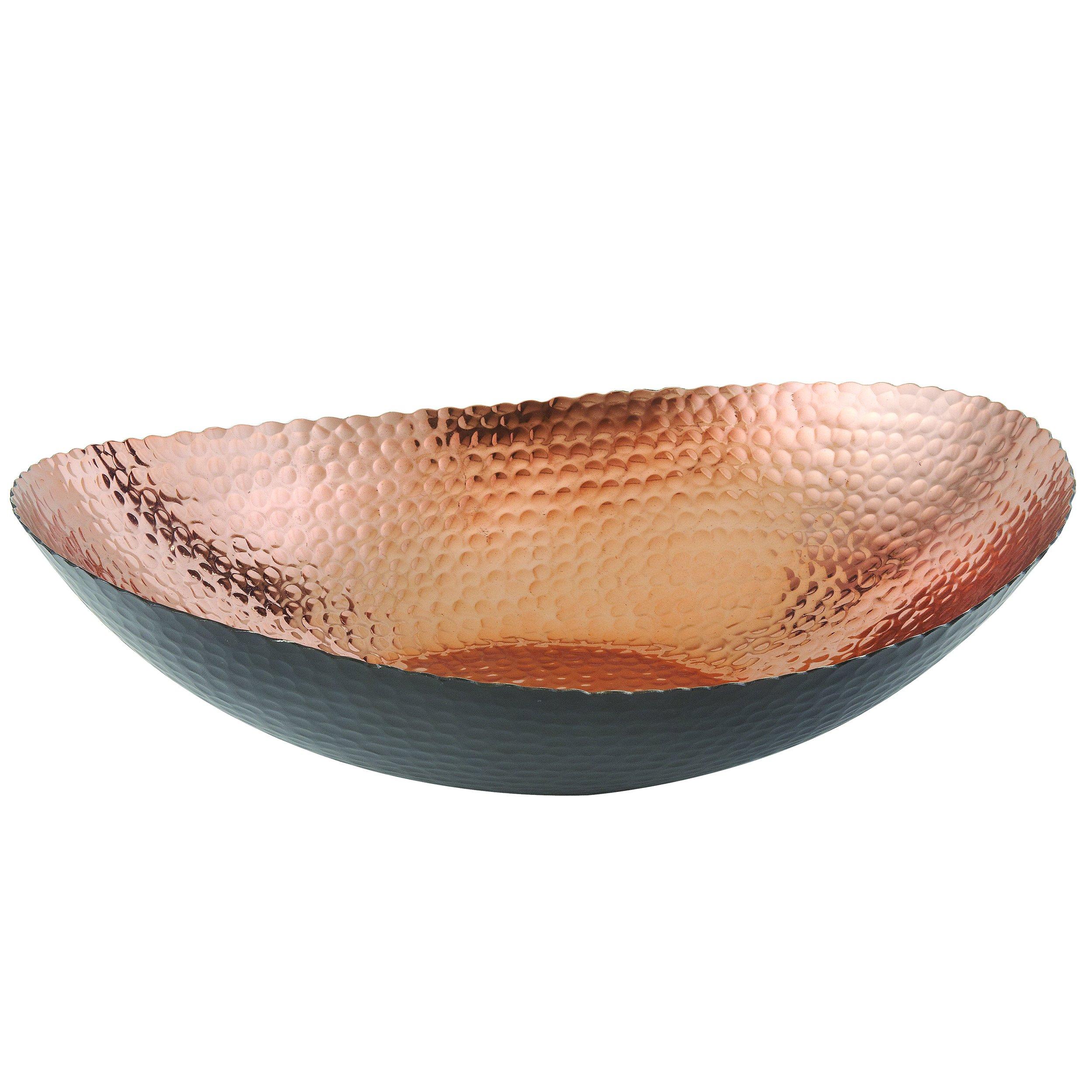 Elegance 72091 Oval Bowl, 14.75'' x 11'', Black/Copper