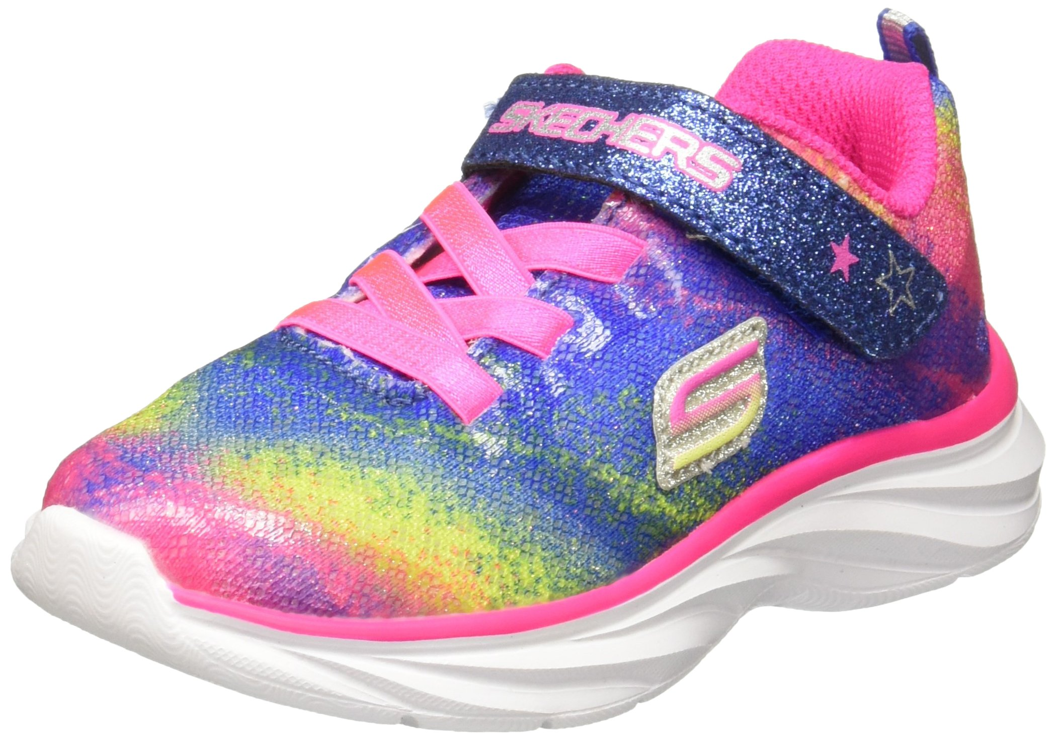 Skechers Pepsters-Bling Brite Girls Infant-Toddler-Youth Sneaker 5 M US Toddler Multi-Pink