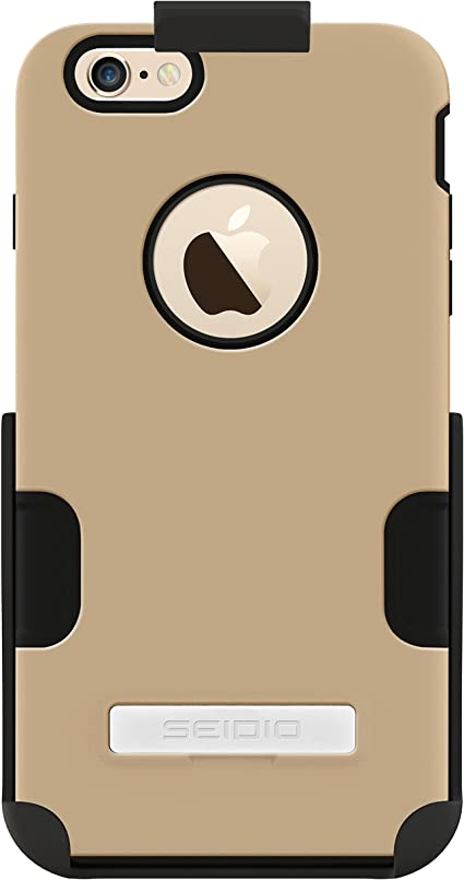 Orange Seidio DILEX Case with Metal Kickstand for Apple iPhone 6 Plus Retail Packaging