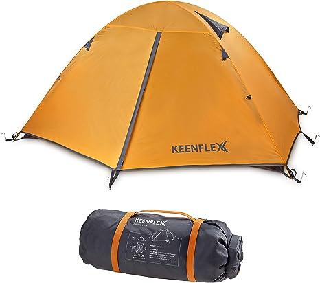 KeenFlex Tienda de campaña para 2 Personas de Doble Capa Ultraligera: Amazon.es: Deportes y aire libre