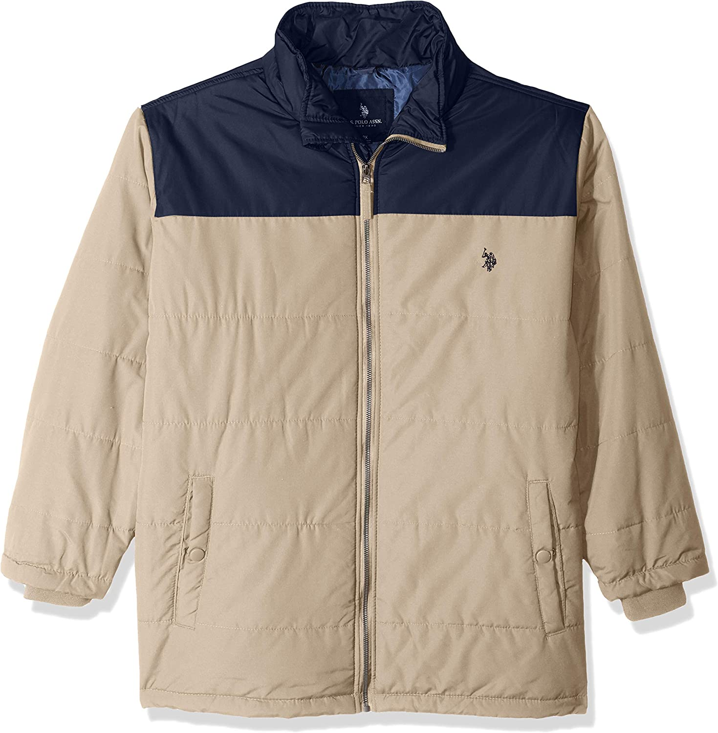 Mens Classic Bubble Jacket with Polar Fleece Lining and Mini Logo US Polo Assn Mens Traditional Collections Outerwear /& Swim Polo Assn U.S