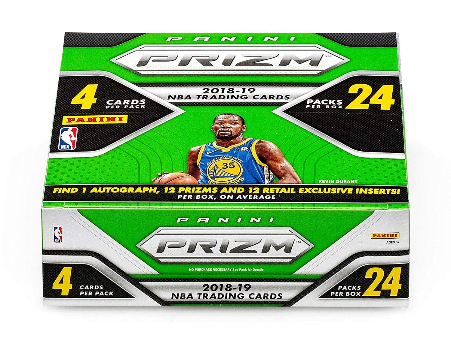 2018-19 Panini Prizm Basketball Retail Box (24 Packs/4 Cards:1 Auto, 24 inserts) - Panini Certified - Autographed Basketballs Sports Memorabilia
