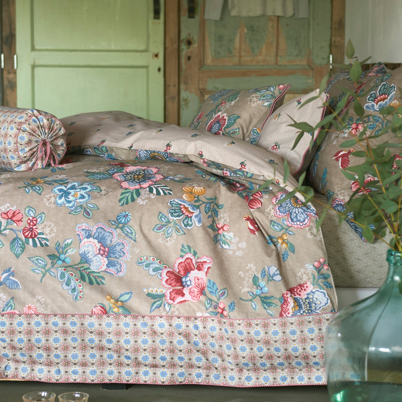 Pip Studio Bettwäsche Set Berry Bird Khaki Wendeoptik Wendeoptik Wendeoptik 2tlg Baumwolle Brushed Twill Blumen, 135x200cm 2155cc