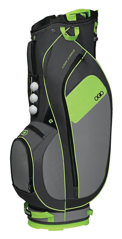 [オジオ] キャディバッグ CIRRUS カートバッグ サイズ:10.5(WIDE) 型/47インチクラブ対応/約2.6Kg/ 機能:グローブアタッチメントブルクロ/フリースバリュアブルポケット/EASY LIFT HANDLE  green B074JDPWBP