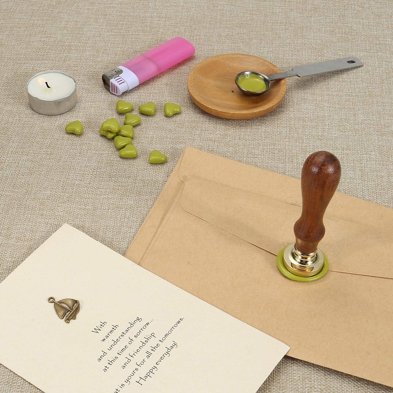 Ananas #1 Mogokoyo Vintage-Stil Pflanzen-Serie Rosenholz Wachs Siegelstempel Dekorativer Siegel Petschaft Holzgriff Brief mit verschidene Gravur/