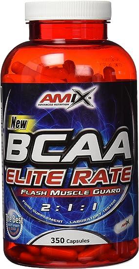 AMIX Nutrition | BCAA Elite Rate | Aminoácidos Ramificados 2:1:1 | 350 Cápsulas | Aumenta Energía y Resistencia | Quemador de Grasa | Especial para ...