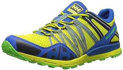 Helly Hansen Men's Terrak Trail Running Shoe, Wasabi/Cobalt Blue/Eve, 7