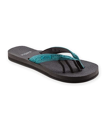 bcbd76b7d Amazon.com  ToeSox Women s Serena Five Toe Sandals (Teal) Size  8 ...