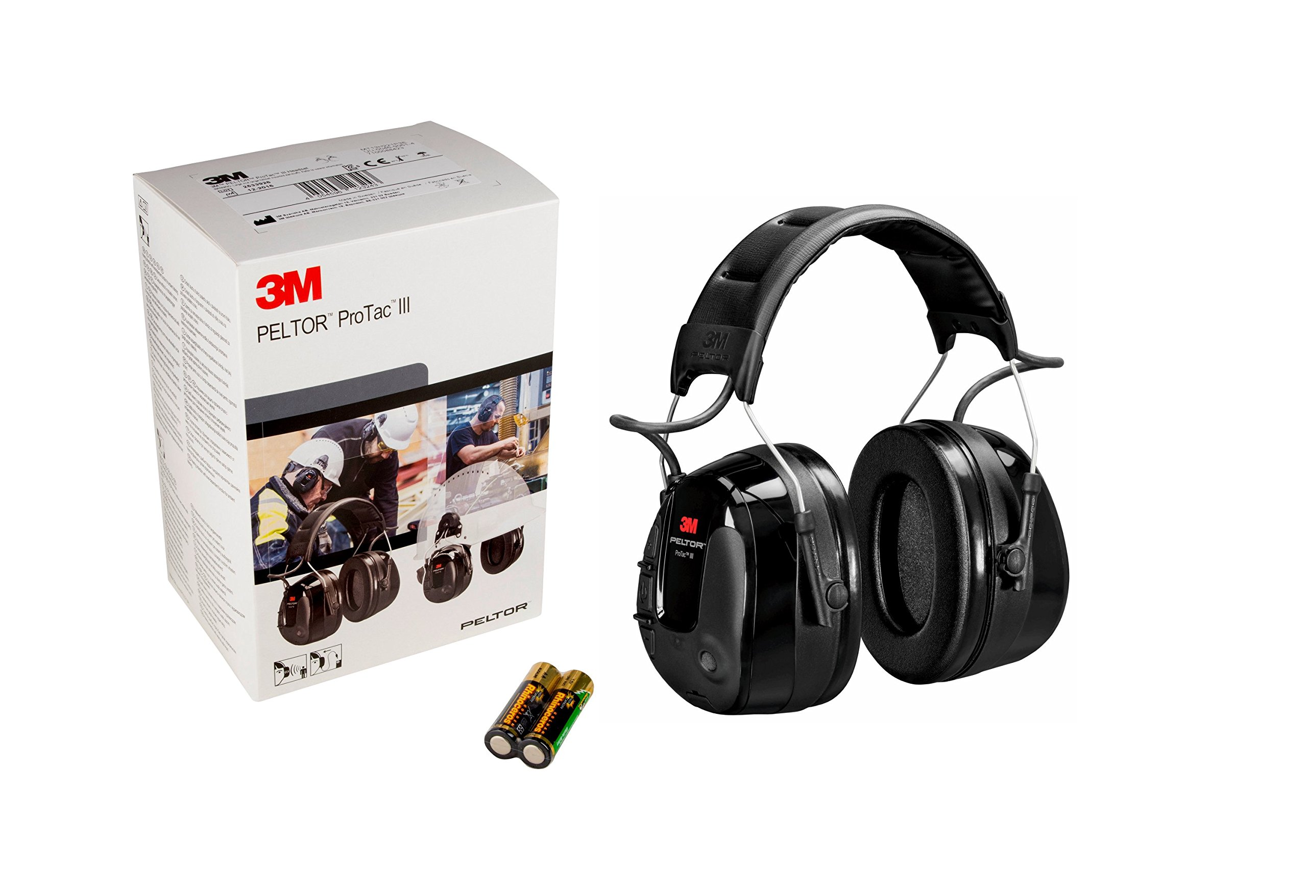 3M 12321 PELTOR ProTac III Headset, Headband, One Size, Black by 3M Personal Protective Equipment