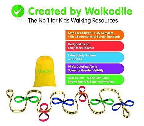 walkodile Cuerda para Caminar para niños, Agarre y Uso (12 niños), diseño