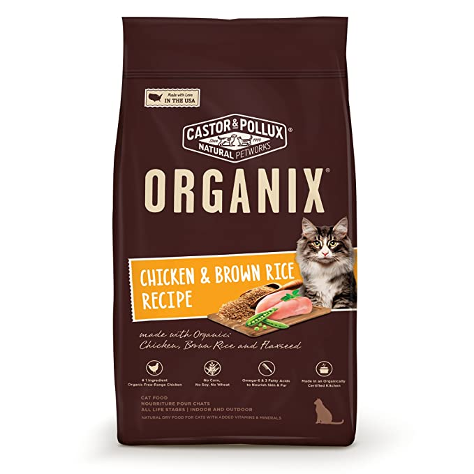 Organix Chicken & Brown Rice Recipe Dry Cat Food, 4-Pound
