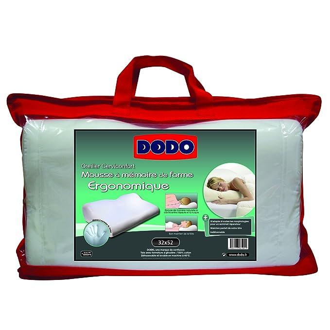 oreiller promethee dodo Dodo 70610 Oreiller Ergonomique 32 cm x 52 cm Ergonomique: Amazon  oreiller promethee dodo