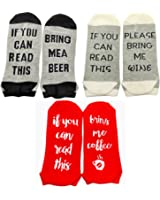 Gedston 2 Pair Cotton Socks Letter Stripe Warm Thermal Socks for Women Men