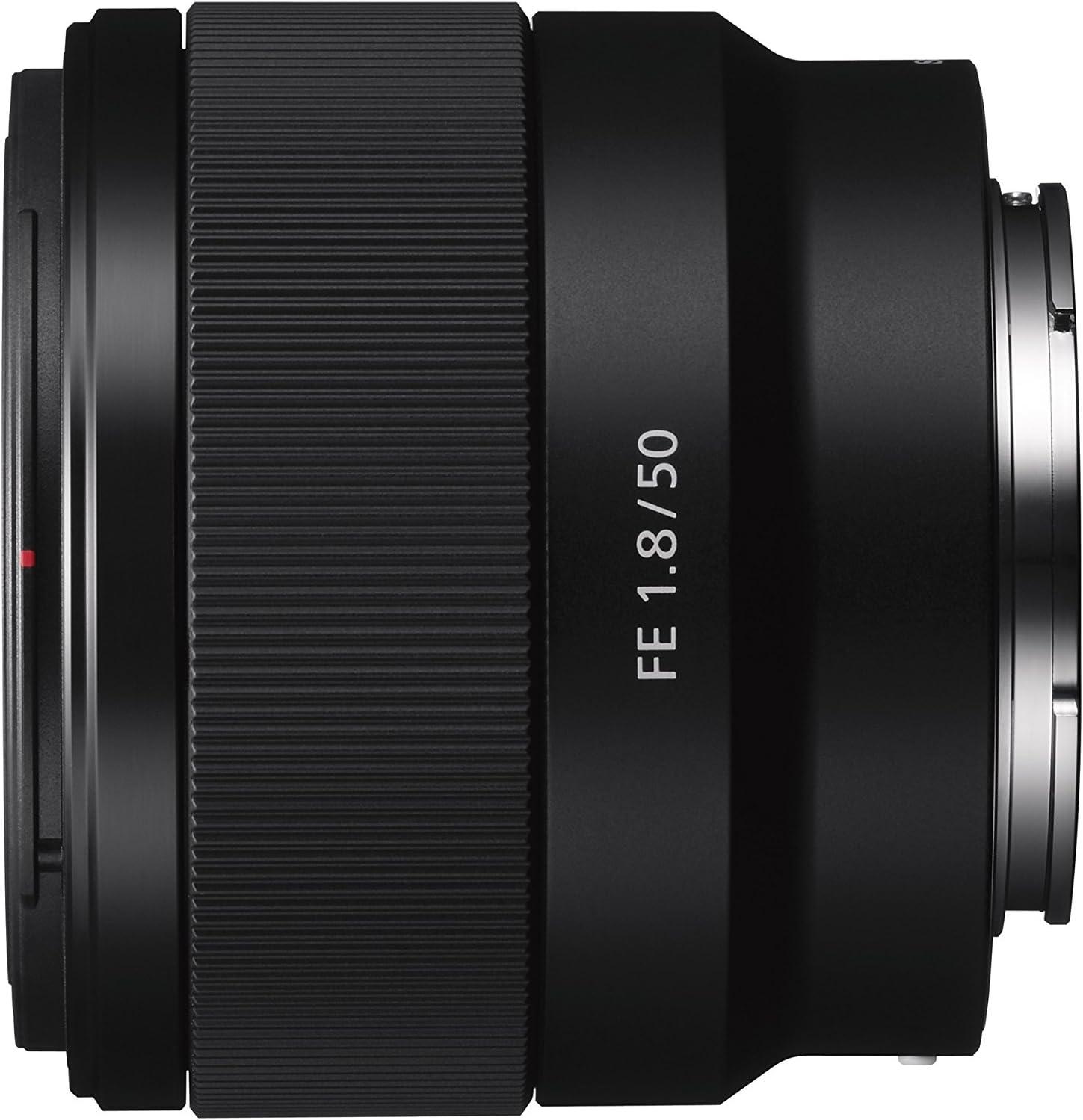 Sony SEL50F18F.SYX Objetivo Fijo (FE 50 mm, F1.8), Negro, Lens ...